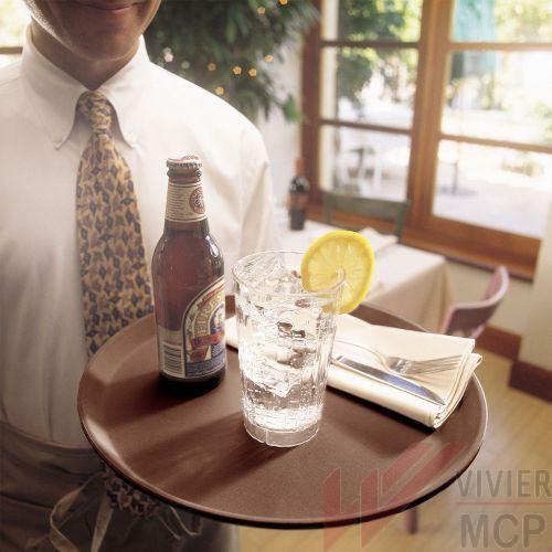 Plateau limonadier anti dérapant grande capacité