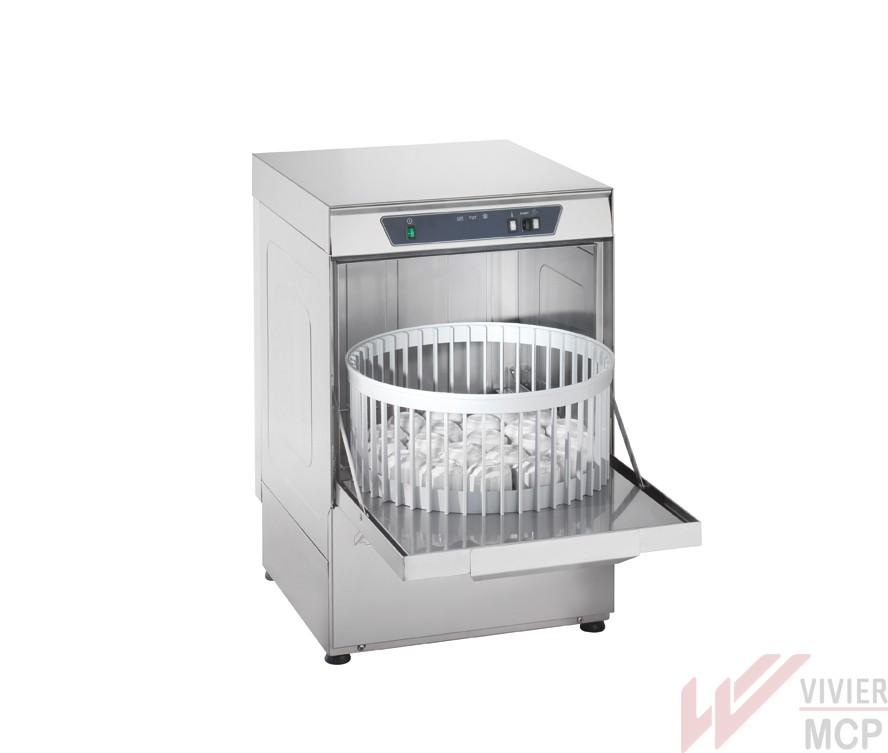 Lave vaisselle cuve emboutie professionnel panier de for Lave vaisselle 40 cm de largeur