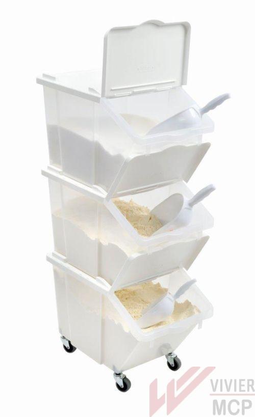 Bac à ingrédients transparent avec couvercle