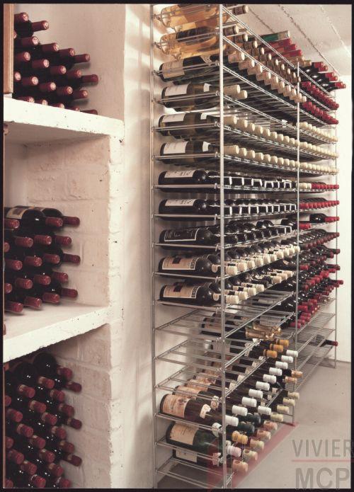 Casier à vin chromé grande capacité