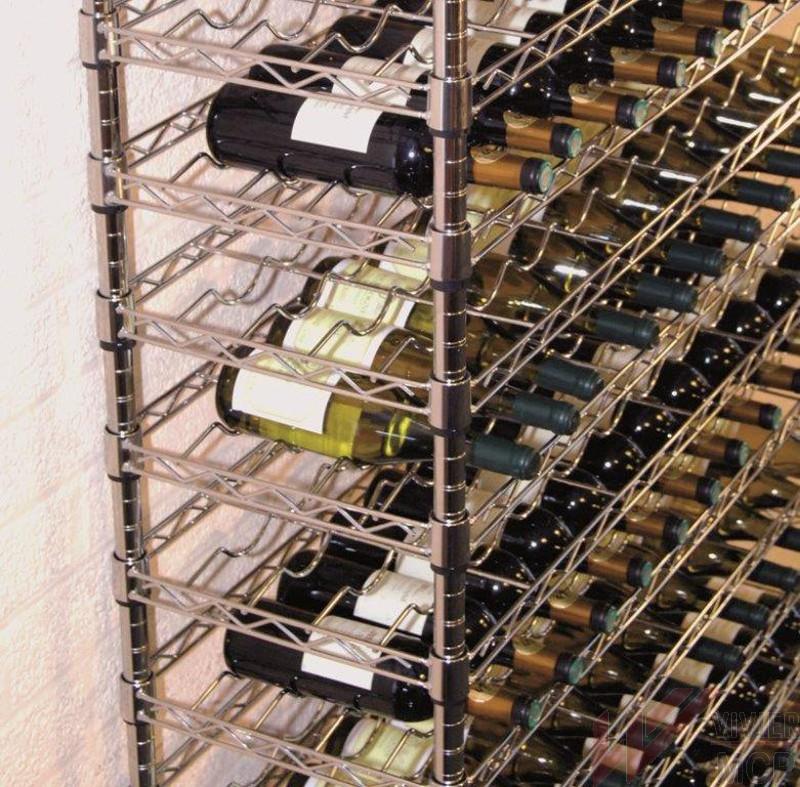 Casier à bouteilles chromé professionnel - Casier à vin
