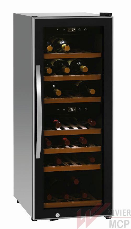 Cave à vin de 38 bouteilles avec double température