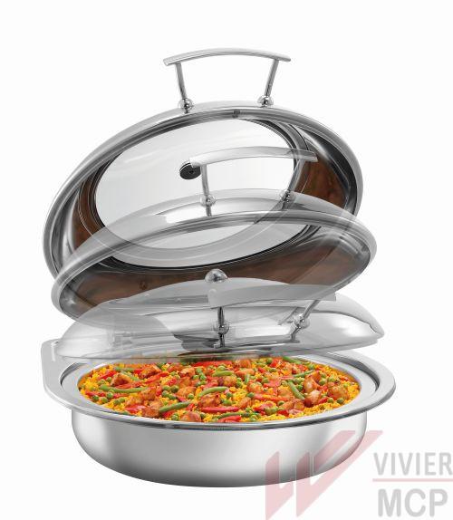 Chafing dish inox rond