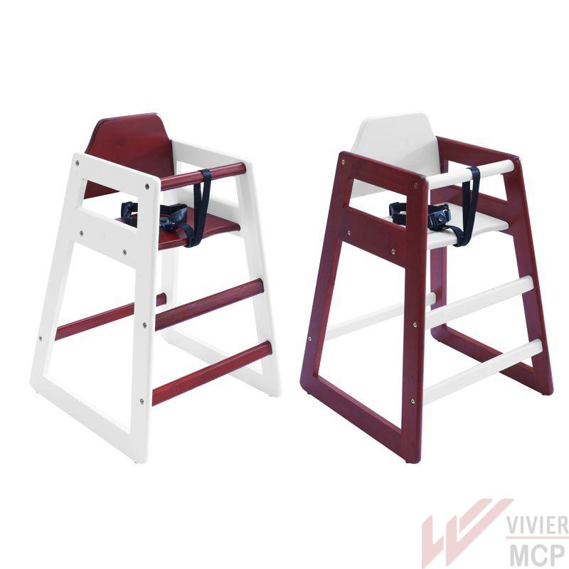 Lot de 2 chaises hautes bébé pour restaurant