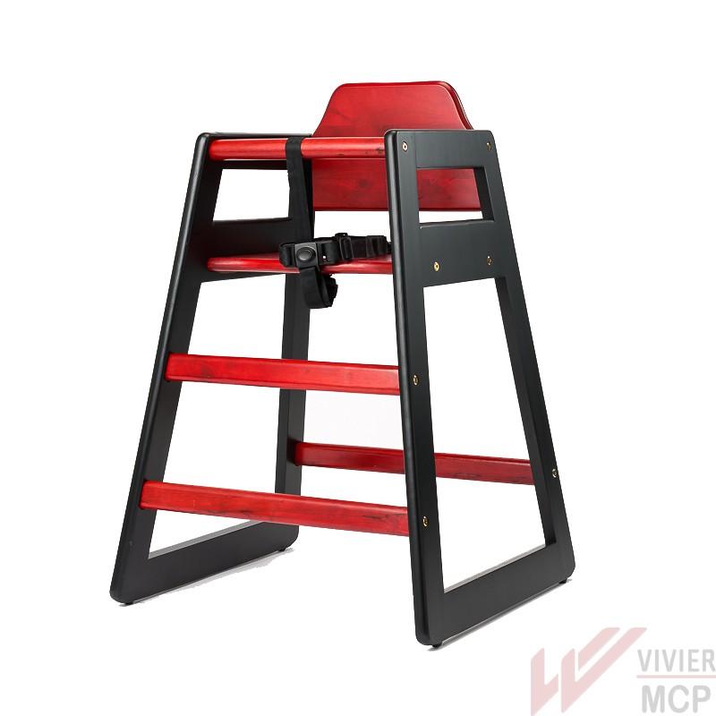 Chaise haute enfant en bois pour chr chaise haute professionnelle en bois pour enfant vivier mcp - Chaise haute pour enfant ...