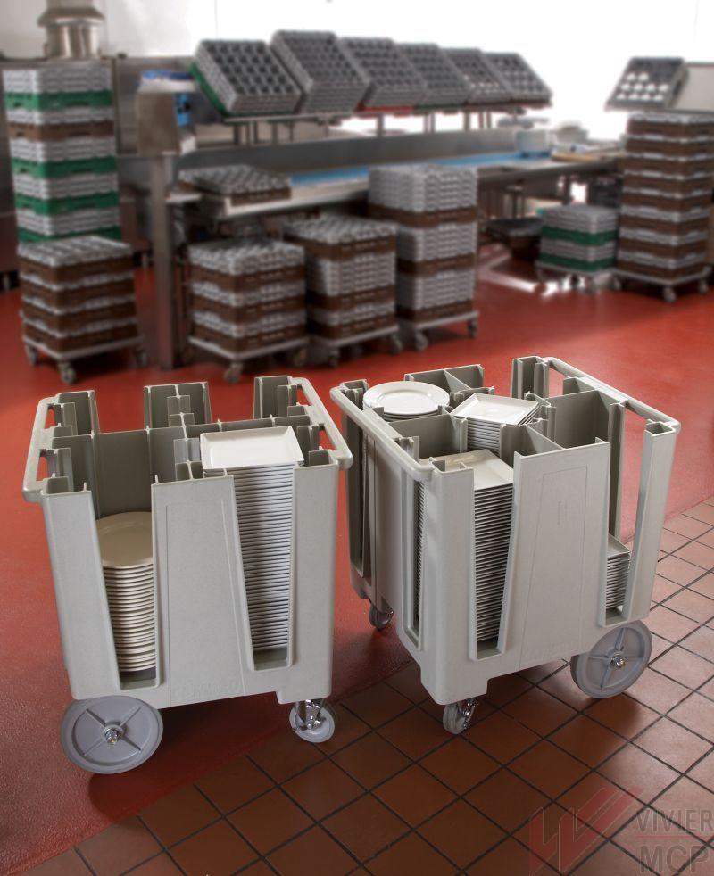 Chariot de service à assiettes à 5 colonnes
