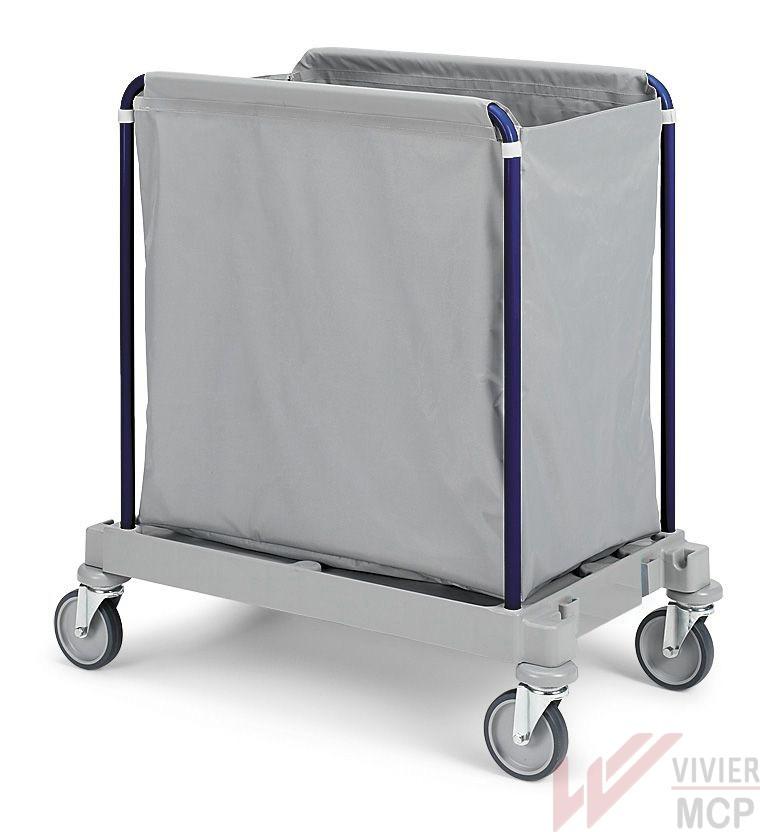Chariot de collecte de linge professionnel