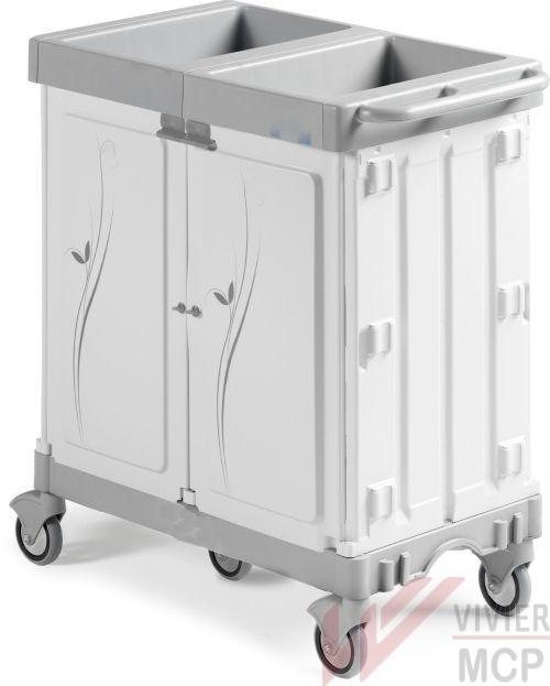 Chariot stockage transport hôtelier sans portes