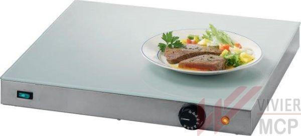 Plaque cuisson chauffe plat avec verre sécurisé