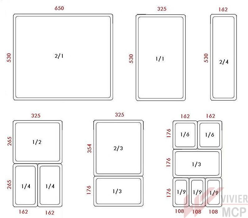 bac gastro pour haute temp rature h pan gn 1 3 vivier mcp. Black Bedroom Furniture Sets. Home Design Ideas