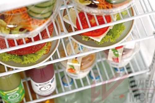 Mini vitrine réfrigérée de 78l argent