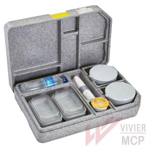 Plateau de distribution de repas individuel tablotherm assiette de 23cm et 2 bols en porcelaine