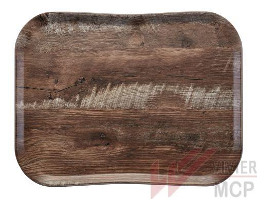 Plateau de service haut de gamme effet bois clair