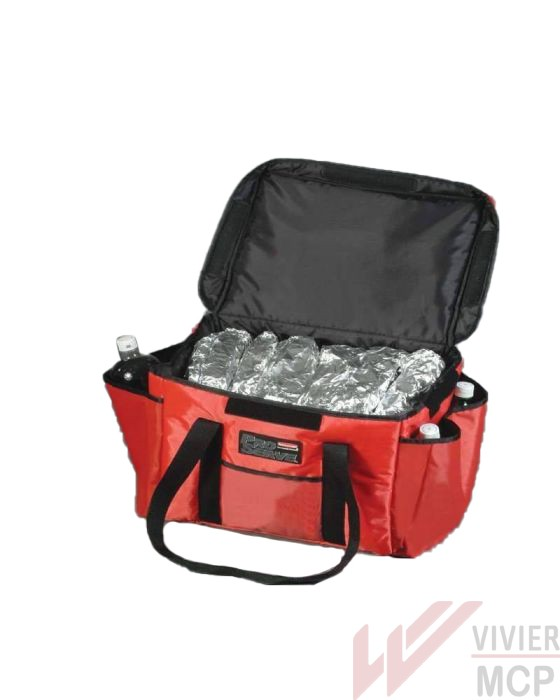 Sac de transport isotherme pour 4 boîtes à pizzas ø 30 cm ou 3 de 35 cm