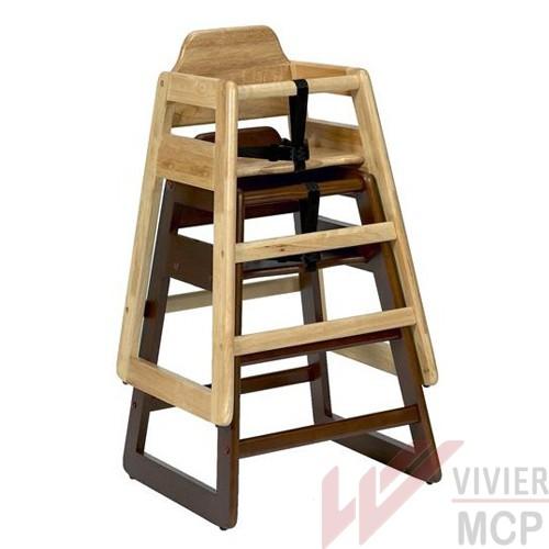Chaise haute pour restaurant en bois vivier mcp for Chaise haute en bois pour bebe