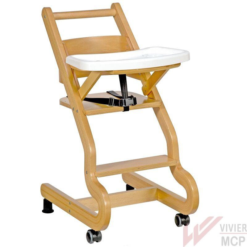 Chaise haute enfant en hêtre clair