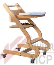 Hêtre En Pour Chaise Avec Bois De 4 Roulettes Haute Enfant l35uTFK1Jc