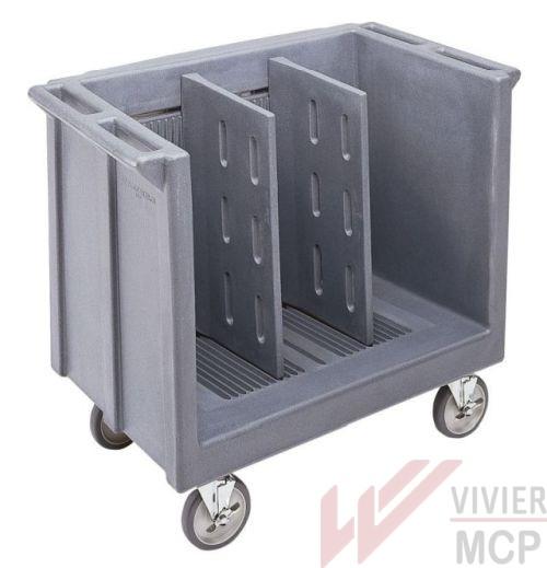 Chariot ajustable pour plateaux et assiettes