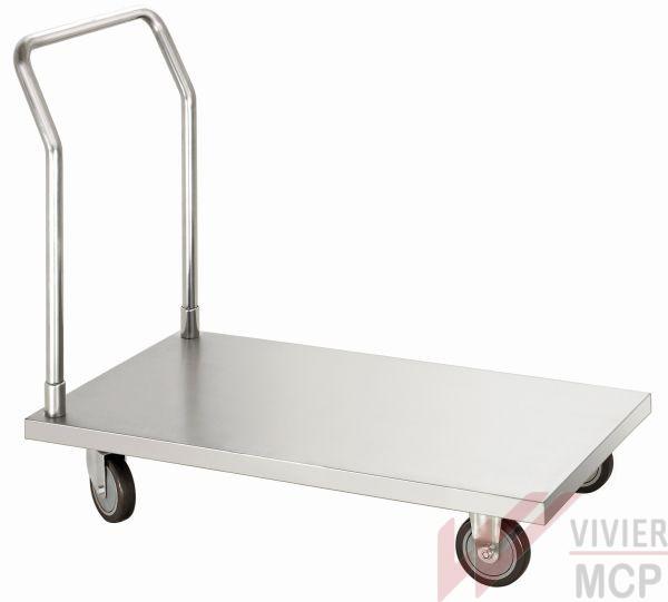 Chariot de transport inox pour cuisine