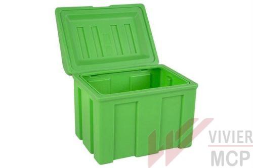 Conteneur bac à sel de déneigement de 110 l vert