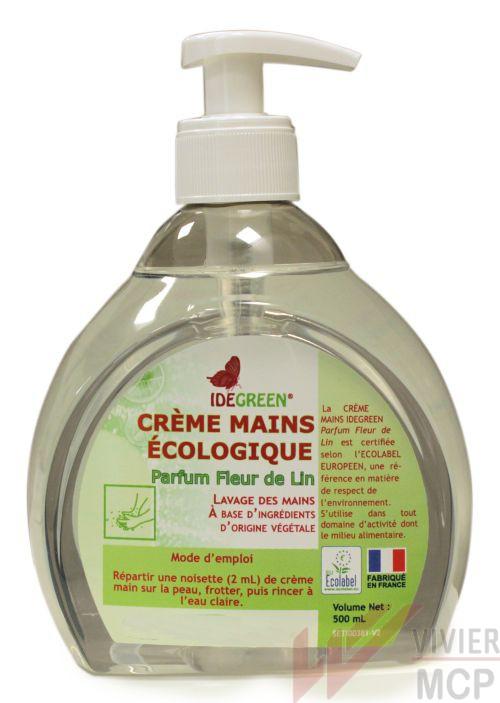 Crème lavante main ecolabel 500ml parfum fleur de lin