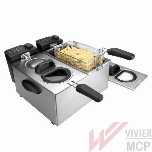 Friteuse électrique 7l double bacs