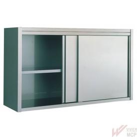 Armoire suspendue en inox avec portes coulissantes