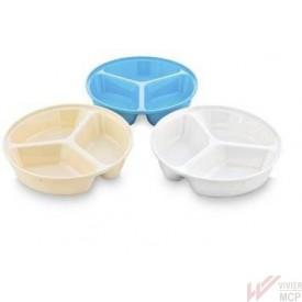 Assiette à 3 compartiments et 3 couleurs