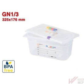 Bac gastronorme translucide identifiable GN1/3