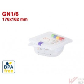 Bac gastronorme translucide identifiable GN1/6
