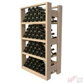 Casier en bois pour 72 bouteilles de 75 cl