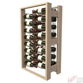 Casier en bois pour 48 bouteilles de profil
