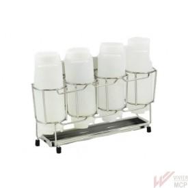 Casier support inox vertical pour bouteilles FIFO