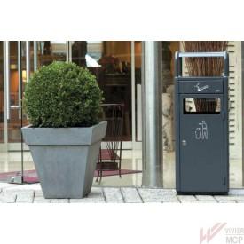 Cendrier sur poubelle en extérieur pour restaurants et hôtels