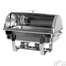 Chafing dish chauffe plat inox à couvercle coulissant