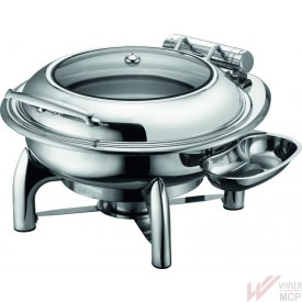 Chafing dish inox rond