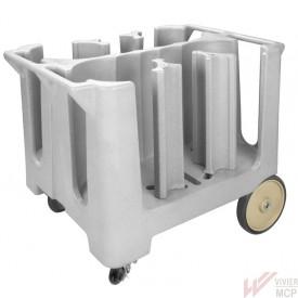 Chariot porte assiettes 6 colonnes ajustables