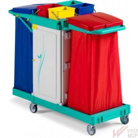 Chariot de stockage et collecte des déchets