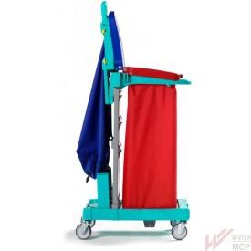 Chariot de tri des déchets pliable à 2 sacs compact