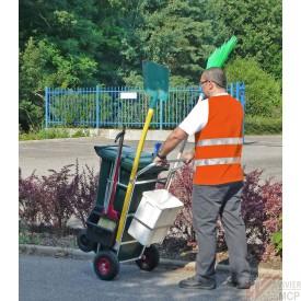 Chariot de voirie pour collecte de déchets en conteneur
