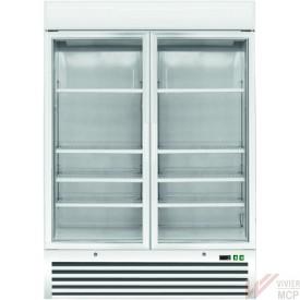 Congélateur armoire à 2 portes vitrées
