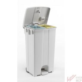 Conteneur écologique avec insert pour 2 compartiments de 45l