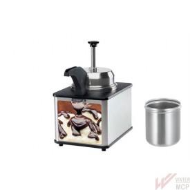 Distributeur de chocolat chaud avec pompe inox et bec verseur