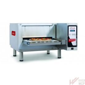 Four à pizzas convoyeur Zanolli compact pour plus de 130 pizzas à l'heure