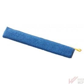Frange de dépoussiérage microfibre bleue de 40 cm
