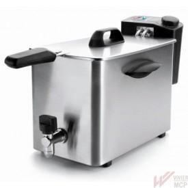 Friteuse électrique avec robinet de vidange