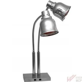 Lampe chauffe plats infrarouge à 2 têtes directionnelles
