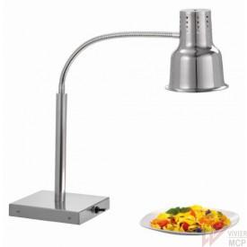 Lampe chauffe plats infrarouge sur pied en inox