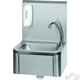 Lave mains inox à commande fémorale
