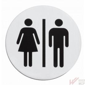Signalétique inox WC Hommes Femmes